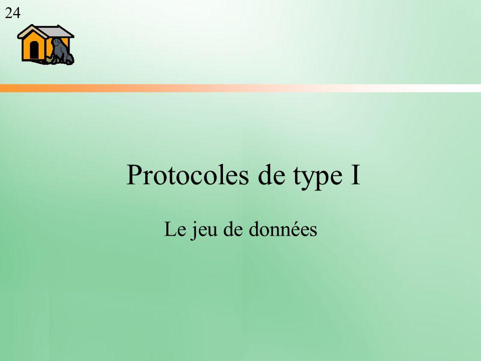 Protocoles de type I Le jeu de données 24