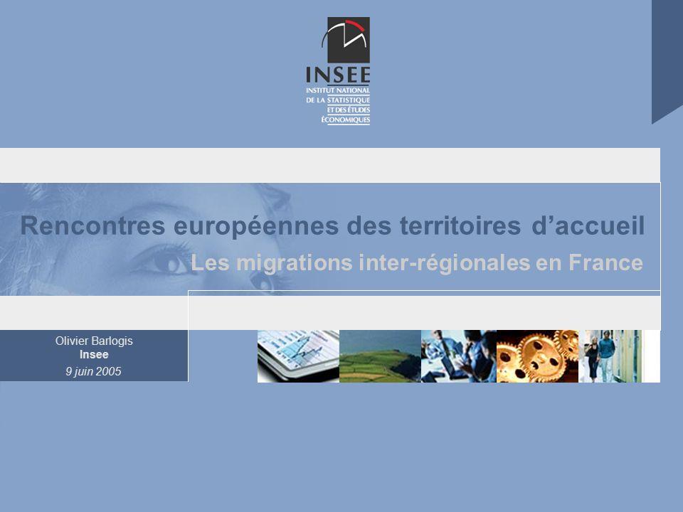 Page 2 Les migrations internes en France 9 juin 2005 Indicateur conjoncturel de fécondité dans l UE à 15 de 1960 à 2002 Source : EUROSTAT Aperçu de la situation démographique de la France.