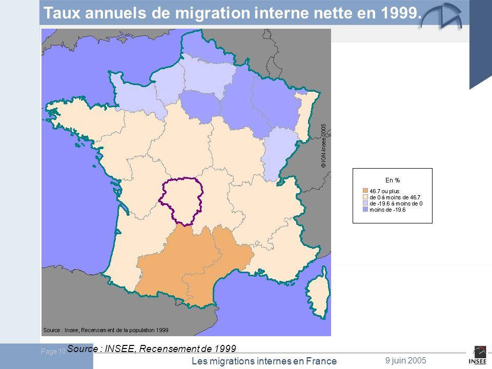Page 11 Les migrations internes en France 9 juin 2005 Une hausse de lintensité migratoire des jeunes