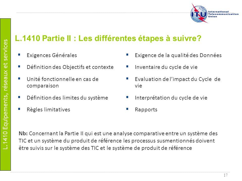 17 L.1410 Partie II : Les différentes étapes à suivre? Nb: Concernant la Partie II qui est une analyse comparative entre un système des TIC et un syst