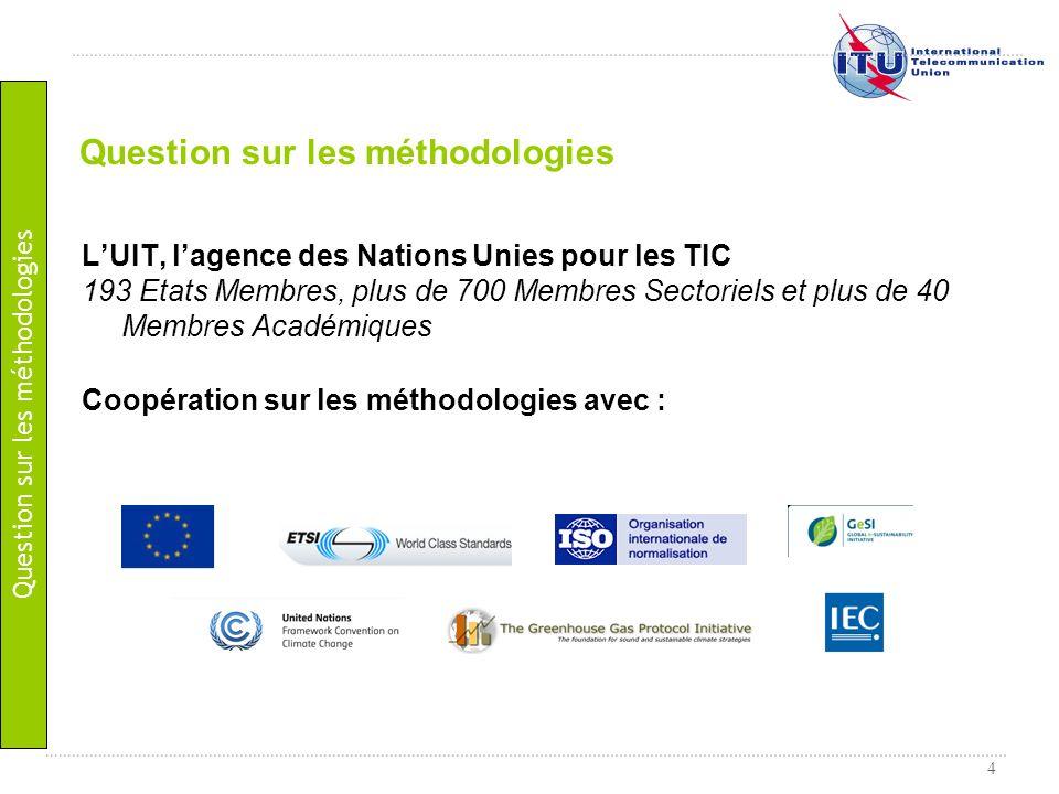 4 LUIT, lagence des Nations Unies pour les TIC 193 Etats Membres, plus de 700 Membres Sectoriels et plus de 40 Membres Académiques Coopération sur les