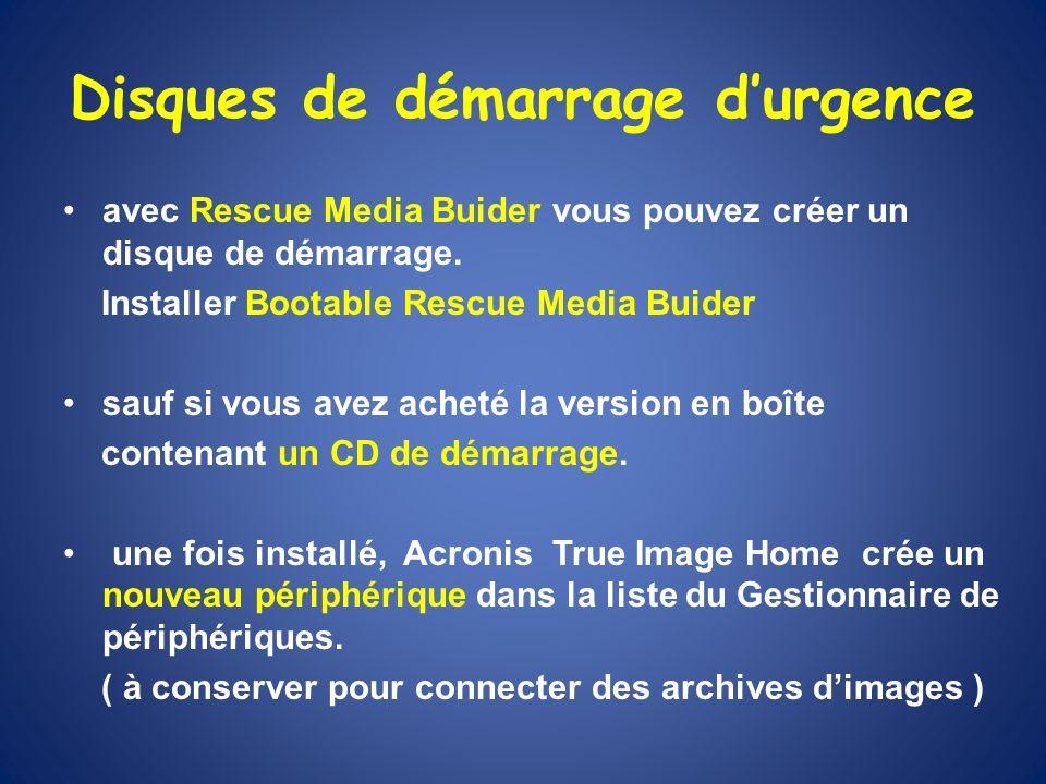 Disques de démarrage durgence avec Rescue Media Buider vous pouvez créer un disque de démarrage. Installer Bootable Rescue Media Buider sauf si vous a