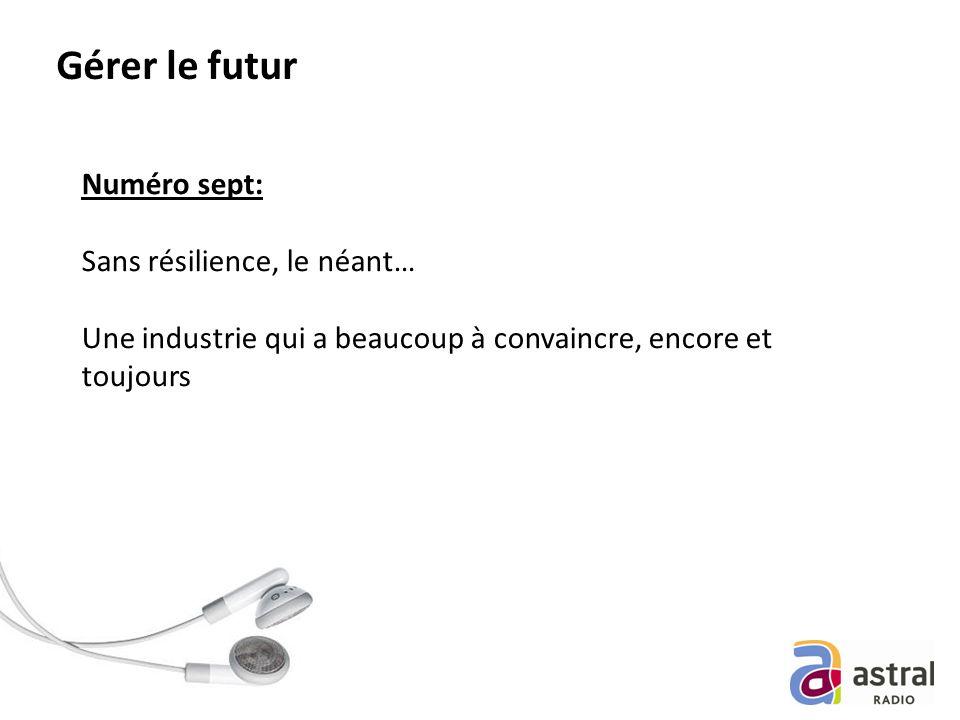 Gérer le futur Numéro sept: Sans résilience, le néant… Une industrie qui a beaucoup à convaincre, encore et toujours