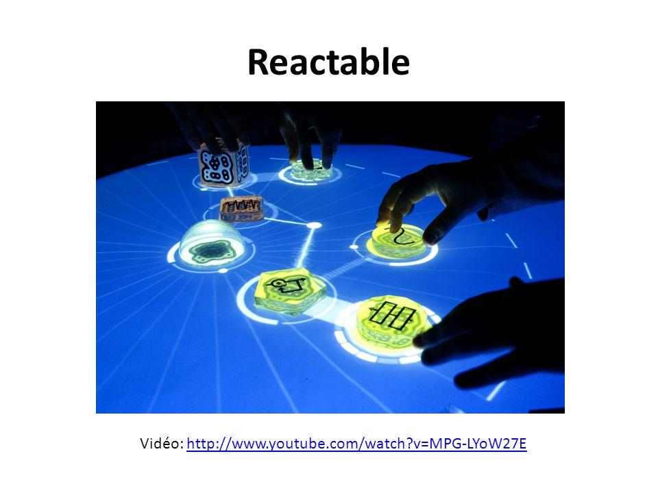 Reactable Vidéo: http://www.youtube.com/watch?v=MPG-LYoW27Ehttp://www.youtube.com/watch?v=MPG-LYoW27E