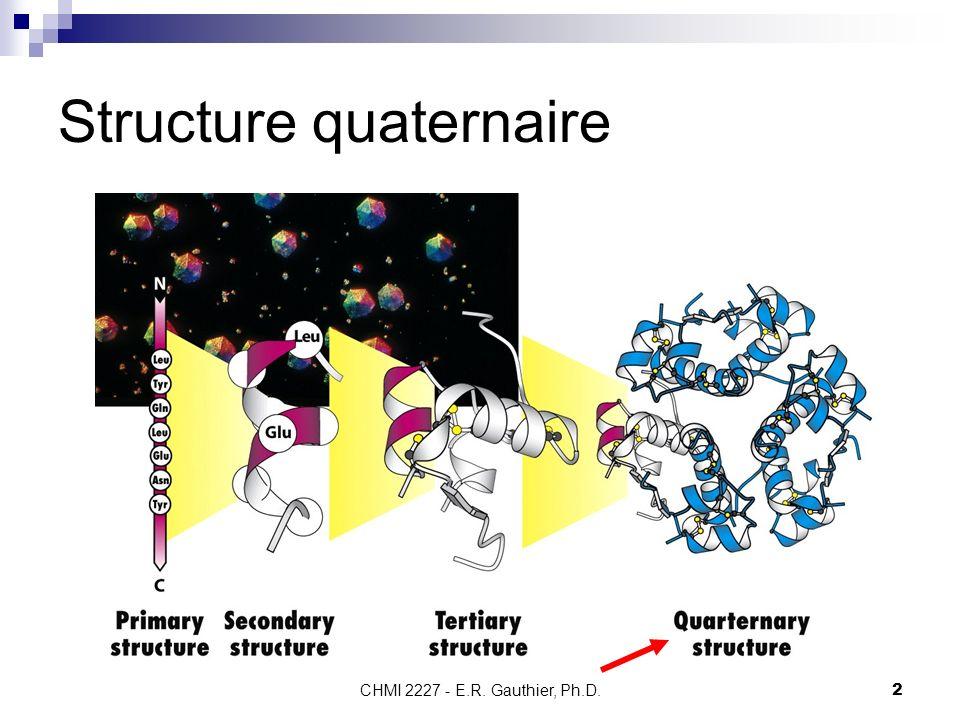 CHMI 2227 - E.R. Gauthier, Ph.D. 2 Structure quaternaire