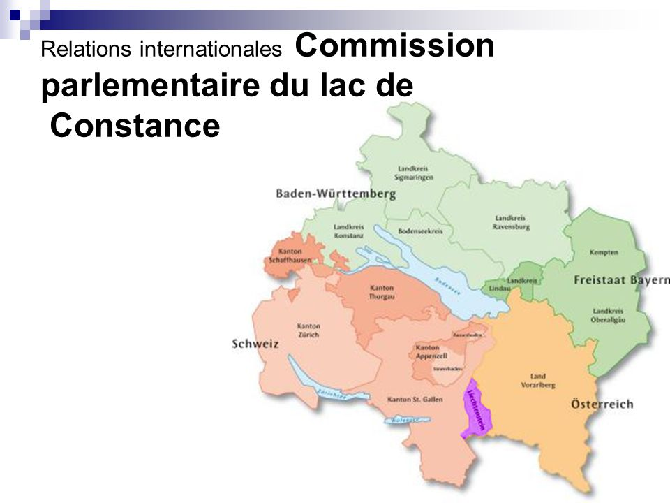 Relations internationales Commission parlementaire du lac de Constance