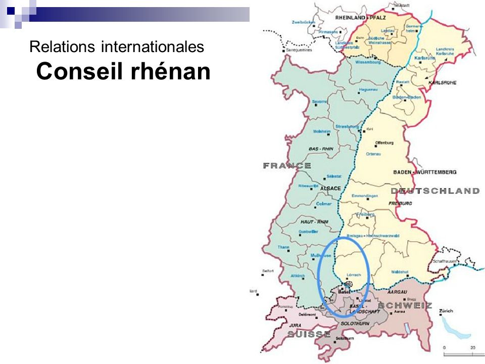 Relations internationales Conseil rhénan
