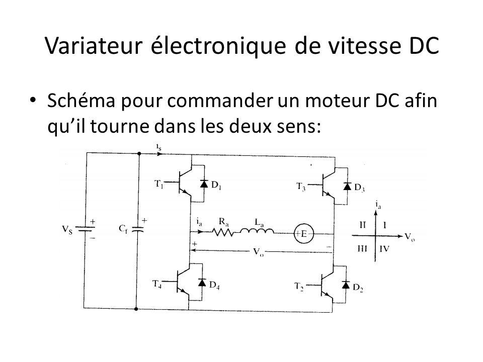 Variateur électronique de vitesse DC Schéma pour commander un moteur DC afin quil tourne dans les deux sens: