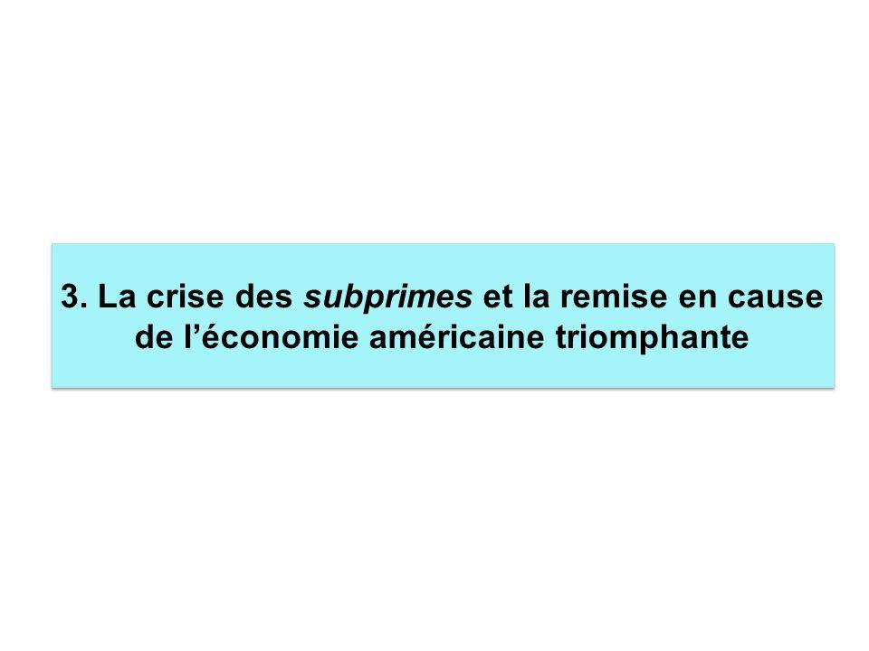3. La crise des subprimes et la remise en cause de léconomie américaine triomphante