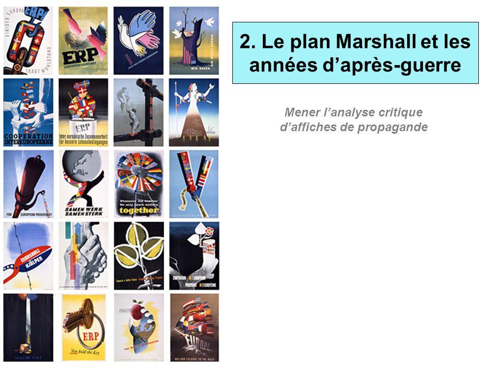 2. Le plan Marshall et les années daprès-guerre Mener lanalyse critique daffiches de propagande
