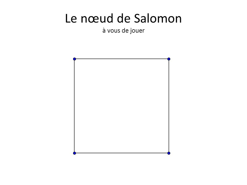Le nœud de Salomon à vous de jouer