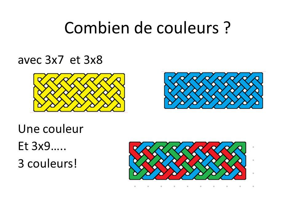 Combien de couleurs ? Et avec 6x9