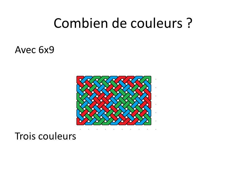 Combien de couleurs ? Et avec 12x8