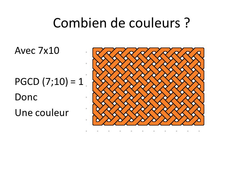 Combien de couleurs ? Eléments de démonstration 3x6
