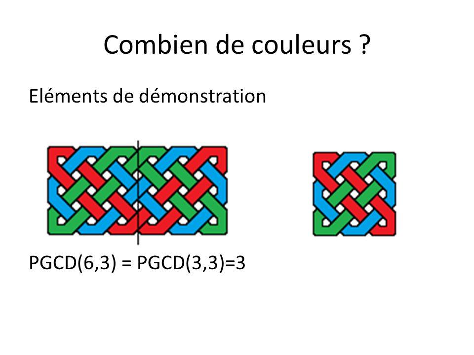 Combien de couleurs ? Eléments de démonstration: 6x9