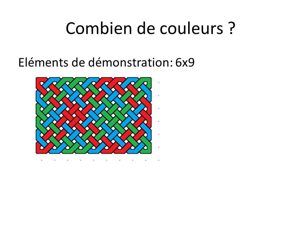 Combien de couleurs ? Eléments de démonstration PGCD(6,9) = PGCD(6,3)