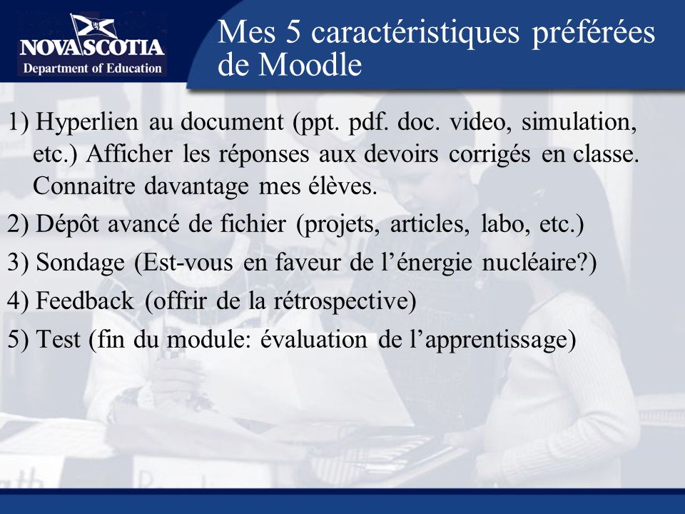 1) Hyperlien au document (ppt. pdf. doc.