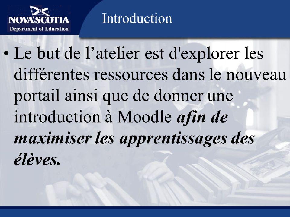 https://edapps.ednet.ns.ca/eduportal Le portail est une porte daccès aux différentes ressources du ministère de lÉducation de la Nouvelle-Écosse.