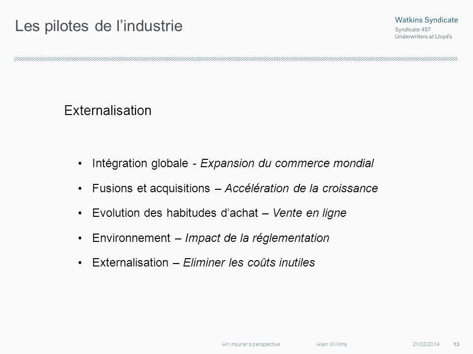 Les pilotes de lindustrie Externalisation Intégration globale - Expansion du commerce mondial Fusions et acquisitions – Accélération de la croissance