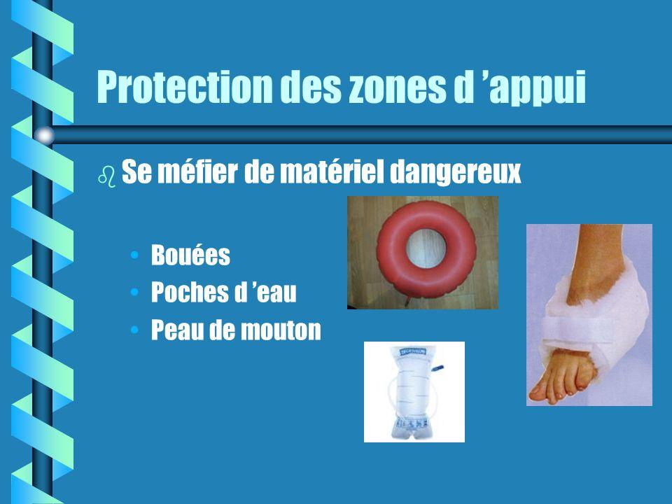 Protection des zones d appui b Se méfier de matériel dangereux Bouées Poches d eau Peau de mouton