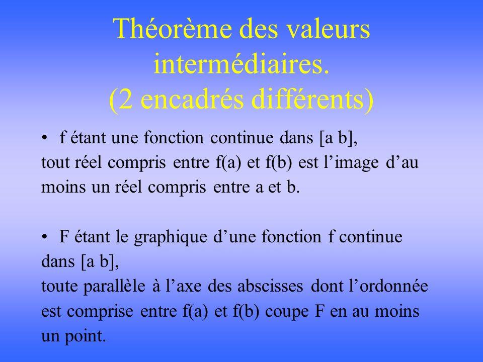 Théorème des valeurs intermédiaires.