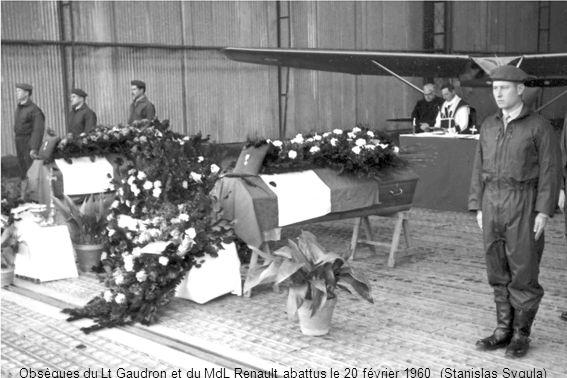 Obsèques du Lt Gaudron et du MdL Renault abattus le 20 février 1960 (Stanislas Sygula)