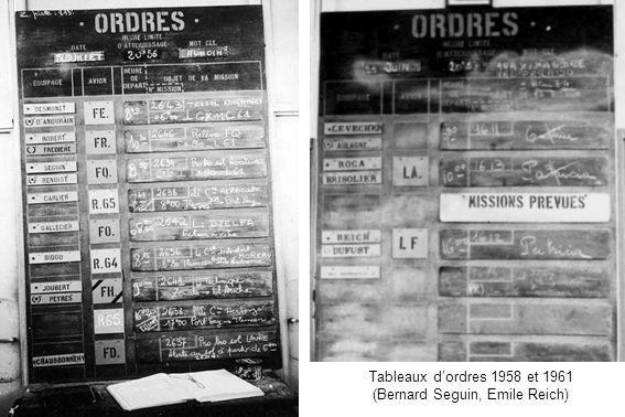 Tableaux dordres 1958 et 1961 (Bernard Seguin, Emile Reich)