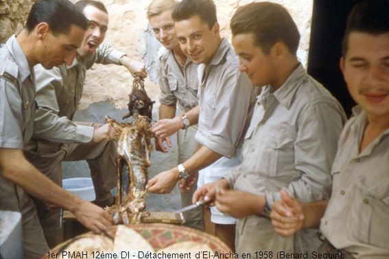 1er PMAH 12ème DI - Détachement dEl-Aricha en 1958 (Benard Seguin)
