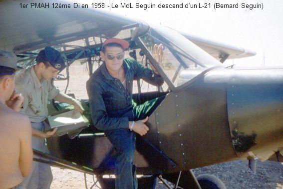 1er PMAH 12ème Di en 1958 - Le MdL Seguin descend dun L-21 (Bernard Seguin)