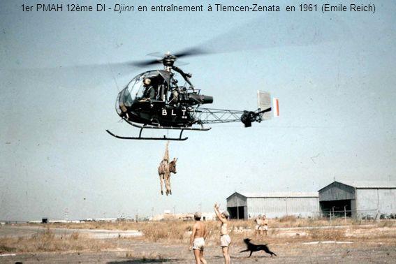 1er PMAH 12ème DI - Djinn en entraînement à Tlemcen-Zenata en 1961 (Emile Reich)