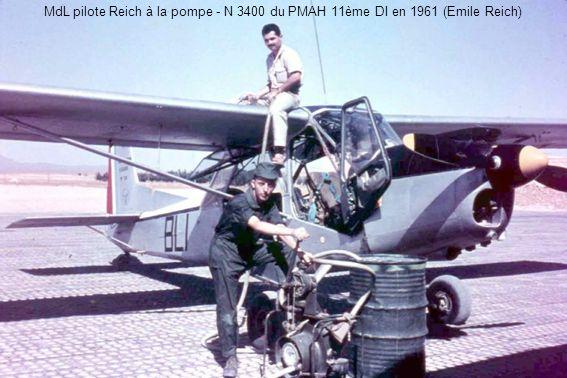 MdL pilote Reich à la pompe - N 3400 du PMAH 11ème DI en 1961 (Emile Reich)