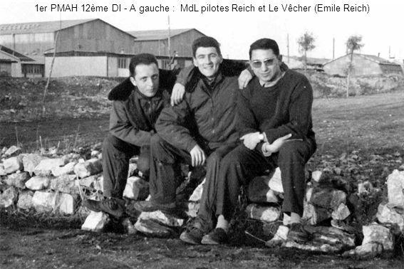 1er PMAH 12ème DI - A gauche : MdL pilotes Reich et Le Vêcher (Emile Reich)