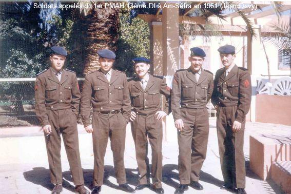 Soldats appelés du 1er PMAH 13ème DI à Aïn-Séfra en 1961 (Jean Devy)