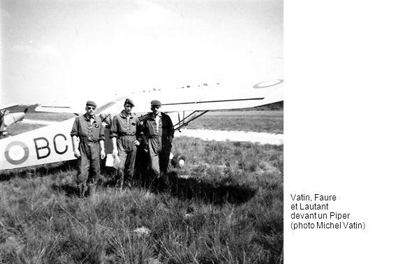 Vatin, Faure et Lautant devant un Piper (photo Michel Vatin)