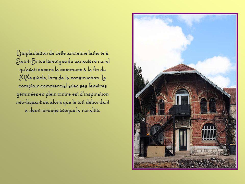 Au XIXe siècle, de nombreux Parisiens fortunés achetèrent des maisons de campagne à Saint-Brice. Celle-ci appartint un temps à de riches banquiers ver