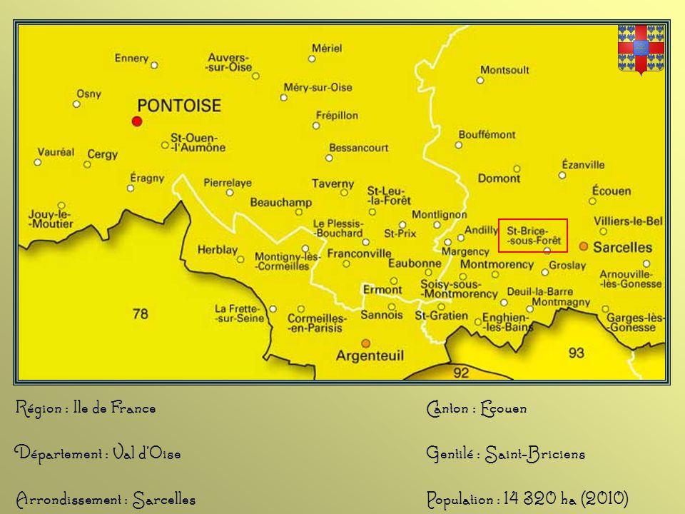 Saint-Brice-sous-Forêt est une commune située à 17km de Paris. C'est dans un document de 1125, où Mathieu le Bel, futur seigneur de Villiers, énumère
