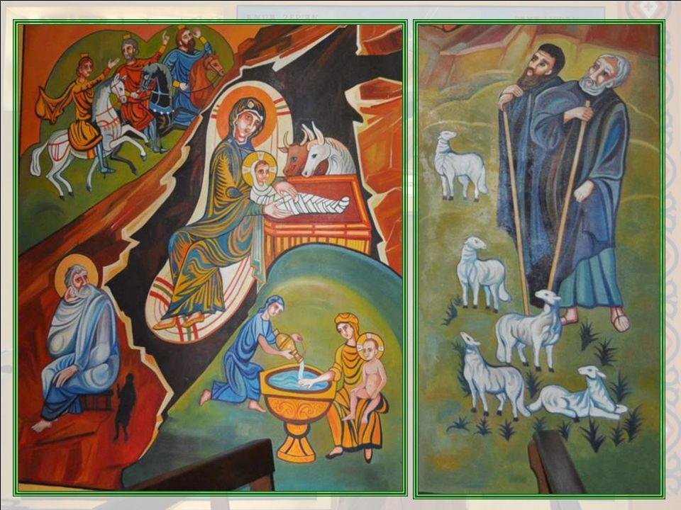 NATIVITE I - Les iconographes avaient lhabitude dintégrer dans le même tableau, les diverses scènes dun même mystère. I°) LEnfant Jésus est emmailloté