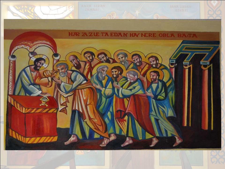 II – 2° tableau : sur le haut à gauche : Larrivée des Mages… guidés par létoile. III – 3° tableau : au bas à gauche : St Joseph : Son attitude reflète