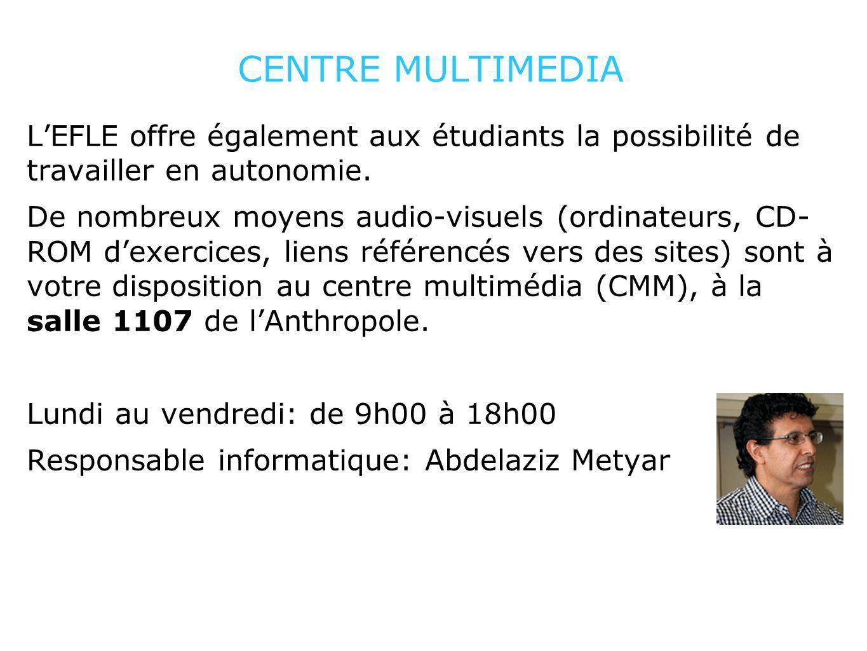 CENTRE MULTIMEDIA LEFLE offre également aux étudiants la possibilité de travailler en autonomie. De nombreux moyens audio-visuels (ordinateurs, CD- RO