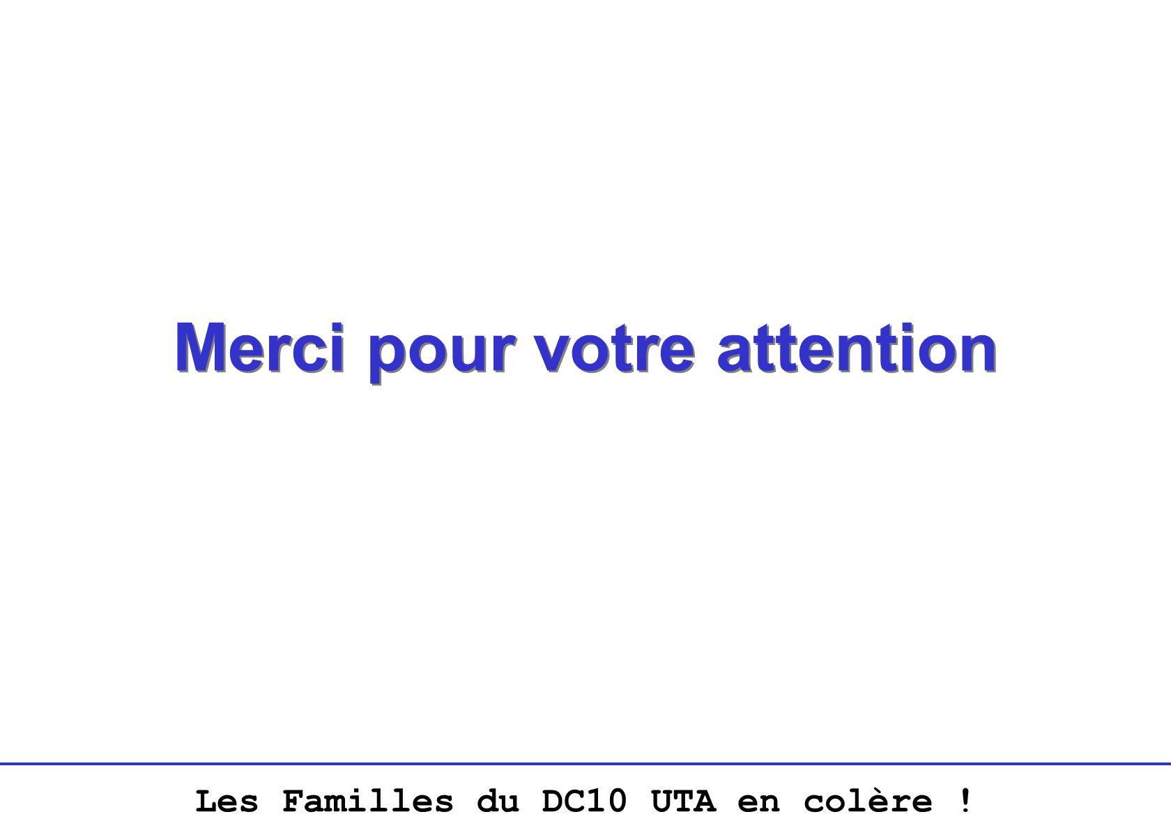 Les Familles du DC10 UTA en colère ! Merci pour votre attention