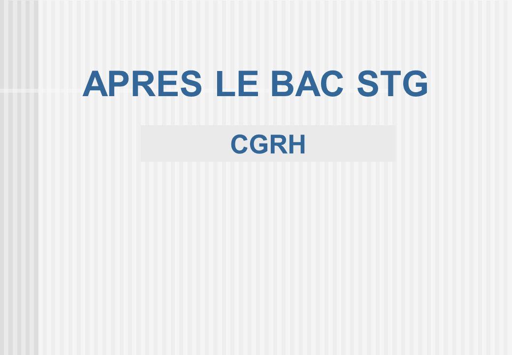 CGRH APRES LE BAC STG