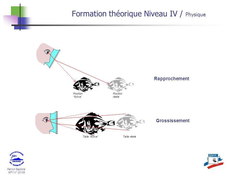 Patrick Baptiste MF1 n° 22108 Position réelle Position fictive Taille réelleTaille fictive Rapprochement Grossissement Formation théorique Niveau IV /