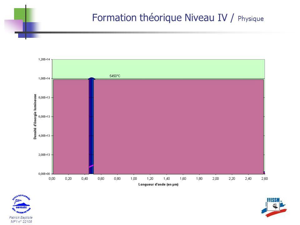Patrick Baptiste MF1 n° 22108 Formation théorique Niveau IV / Physique