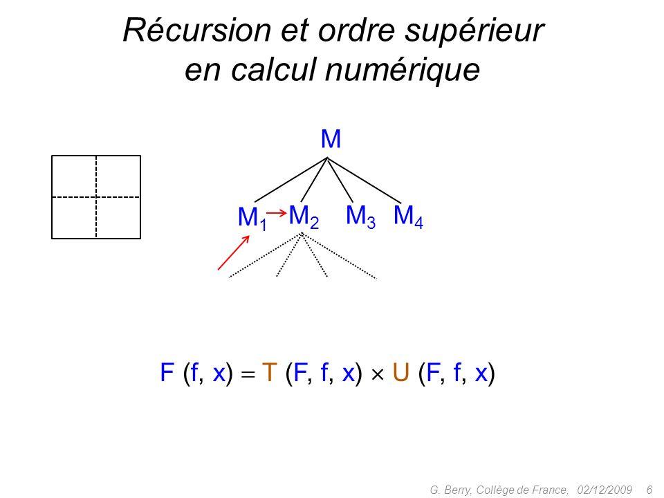 Proposition : Si M est typable de type et si M *N dans le calcul pur, alors N est typable de type 02/12/2009 37G.