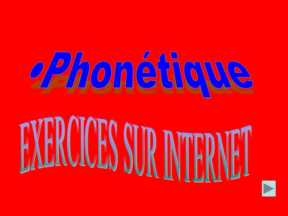 Pour plus dexercices: http://phonetique.free.fr Phonethique corrective et prosodie du français http://courseweb.edteched.uottawa.ca/Phon etique/ Languageguide.org http://www.languageguide.org/francais/gram mar/pronunciation/