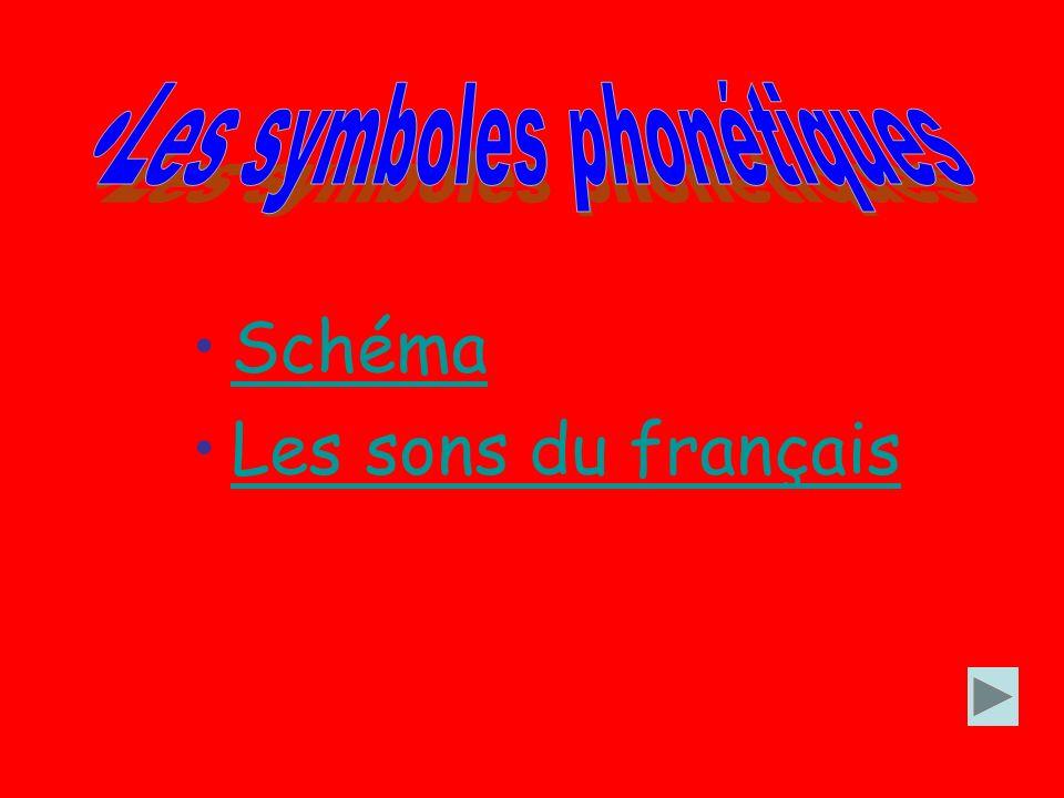 Schéma Les sons du français