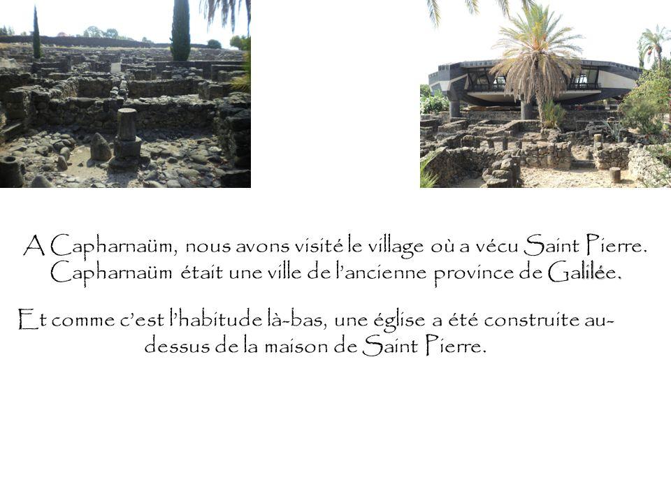 A Capharnaüm, nous avons visité le village où a vécu Saint Pierre. lilé. Capharnaüm était une ville de lancienne province de Galilée. Et comme cest lh