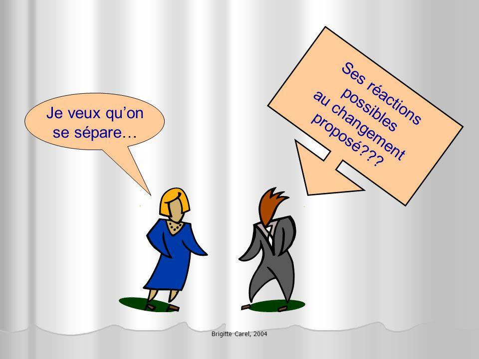 Brigitte Carel, 2004 LES 3 PHASES DUN CHANGEMENT DE K.