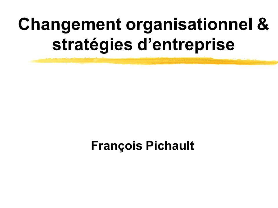 Changement organisationnel & stratégies dentreprise François Pichault