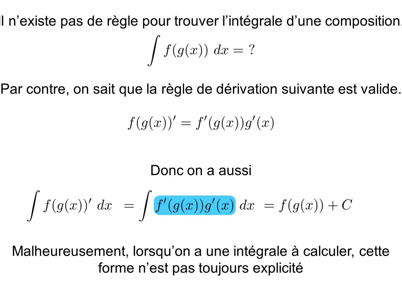 Exemple: Cest exactement lidée que nous venons dexploiter ici qui est à la base du changement de variable.